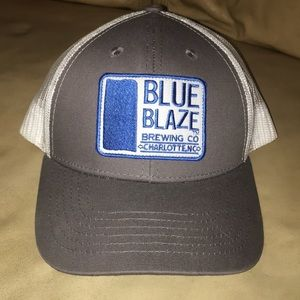 Blue Blaze Brewing Co Snapback hat mesh cap CLT NC